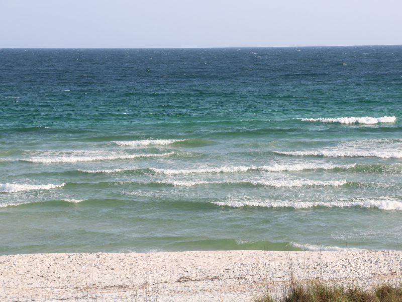 Destin Beach with waves